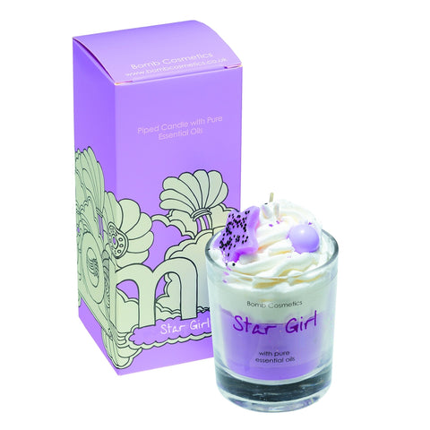 Stargirl Piped Candle Bomb Cosmetics