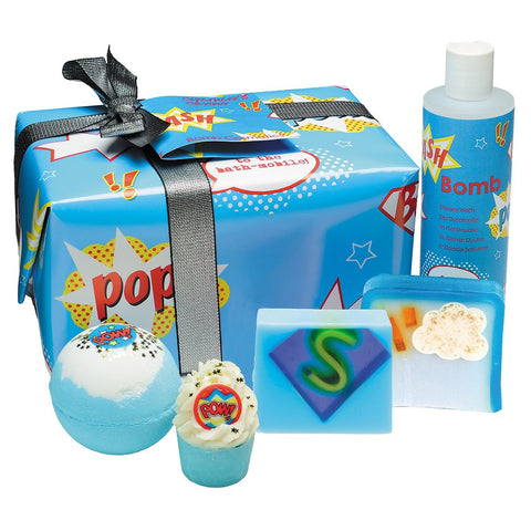 Bath Sets for Boys Superhero Gift Box by Bomb Cosmetics