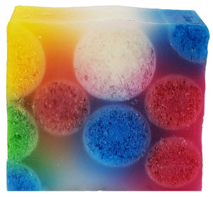 Top of the pops rainbow spotty soap Bomb Cosmetics
