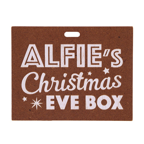 Christmas Eve Box Name Plate - Boys