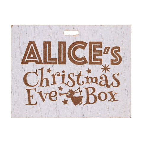 Christmas Eve Box Name Plate - Girls
