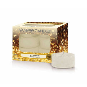 All Is Bright Scented Tealights Yankee