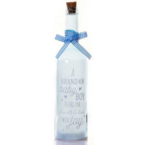 Baby Boy Personalised led bottle starlight