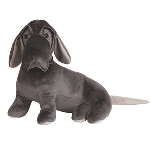 Grey Beagle Dog Doorstop