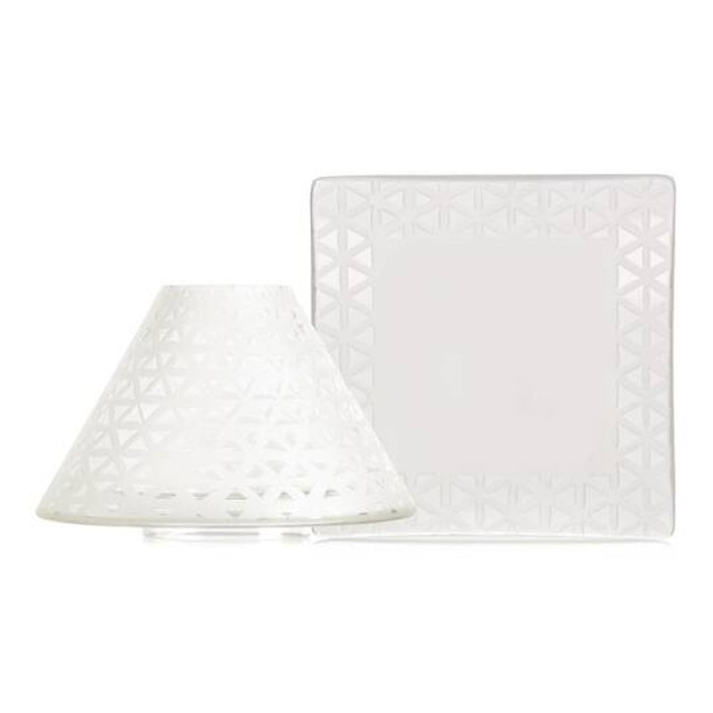 Belmont - Sandblasted Large Shade & Plate
