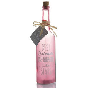 Best Friends PErsonalised Gift Starlight LED bottle