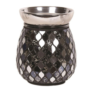 Mirror Teardrop Electric Wax Melt Burner Black