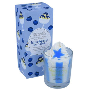 Blueberry Sundae Piped Candle