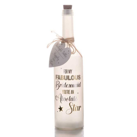 Bridesmaid  Starlight Bottles Personalised Gifts