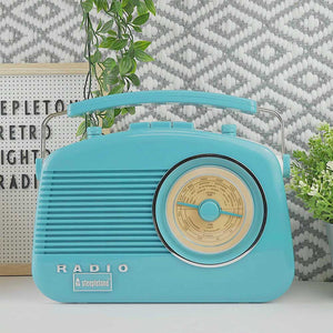 Brighton MW-FM & DAB - Duck Egg Retro Radio Steepletone