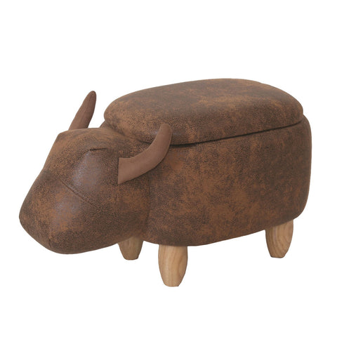 Bull Storage Footstool