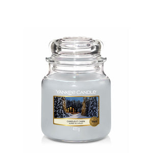 Candlelit Cabin MEdium Yankee JAr