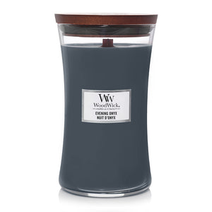 Evening Onyx | Woodwick Large Jar Candles | Forever Love