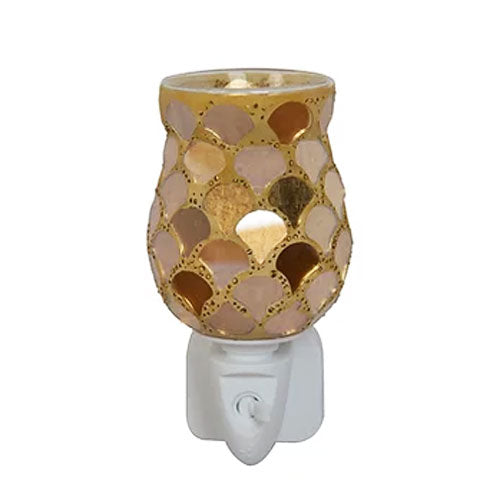 Golden Scales Tulip Plug In Wax Melt Warmer Forever Love