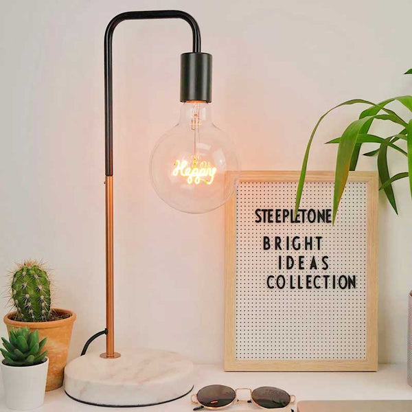 Happy LED Filament Light Bulb Steepletone
