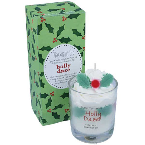 Holly Daze Piped Candle