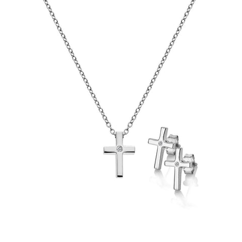 Diamond Amulets Cross Set