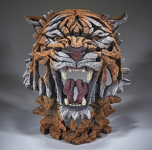 Tiger Bust - Bengal Edge Sculpture