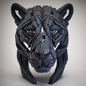 Panther Bust Edge Sculpture