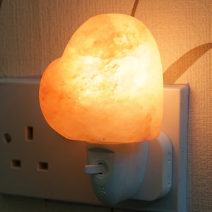Heart Shaped Plug-In Salt Lamp