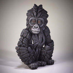 Baby Gorilla Figure Edge Sculpture