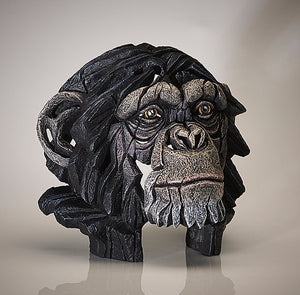 Chimpanzee Head Sculpture Bust by Edge