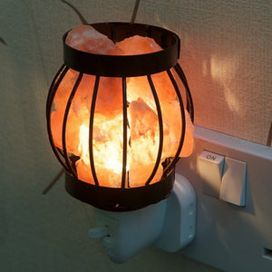 Metal Basket Plug-In Himalayan Salt Lamp