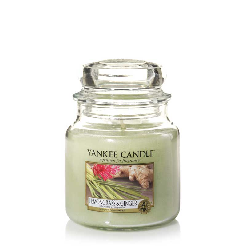 Lemongrass & Ginger Yankee Candle Medium Jars