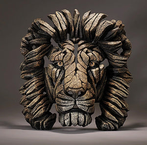 Lion Bust Savannah Edge Sculpture