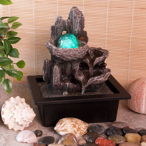 Magical Mountain Indoor Water Feature with Lights