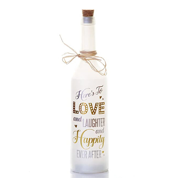 Happily Ever After Marriage Gift Starlight LED Bottles