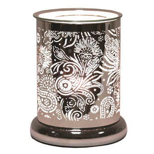 Paisley Silhouette Electric Wax Melt Burner