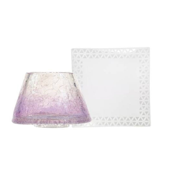 Savoy Purple Crackle Small shade and tray yankee