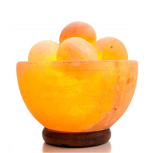 Himalayan Fire Ball Bowl Salt Lamp