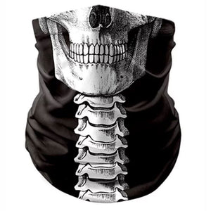 Skull & Spine Reusable Bandana Mask