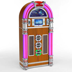 Steepletone retro Touch Rock MW50 Jukebox Light Wood