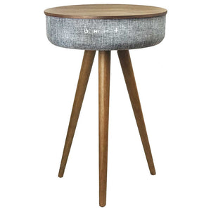 Steepletone Luxury Table Speaker With Bluetooth Dark Wood