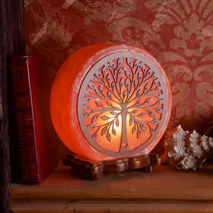 Tree Pattern Himalayan Salt Lamp