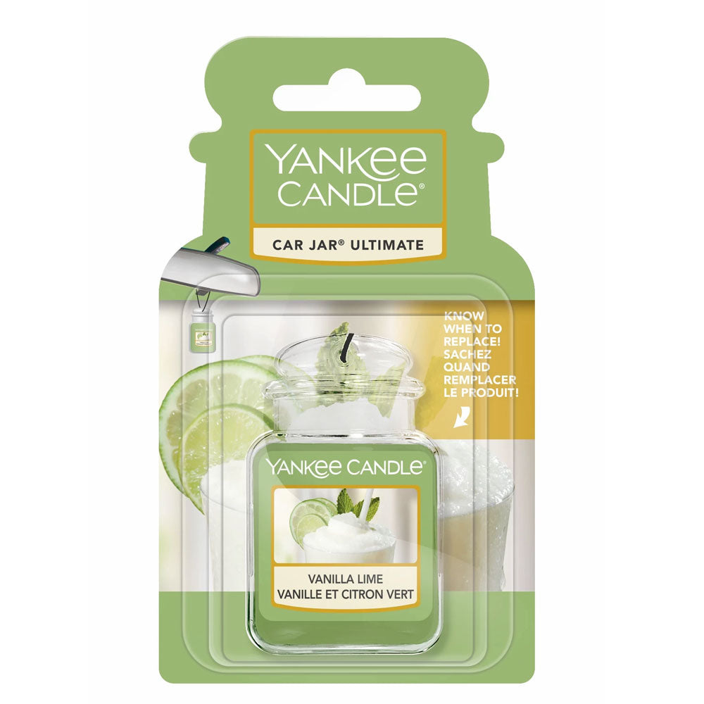 Vanilla Lime Car Jar Ultimate Yankee