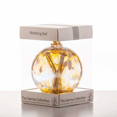 Wedding Pastel Gold Sienna Glass Spirit Ball