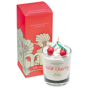 Wild Cherry Piped Candle Bomb Cosmetics