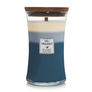 Beachfront Cottage Woodwick Trilogy Large Jar