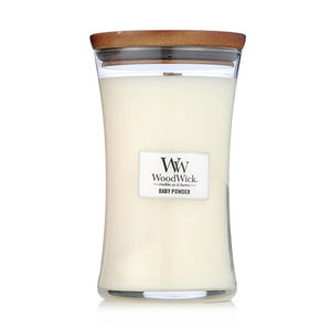 Baby Powder Woodwick Large Jar Candles