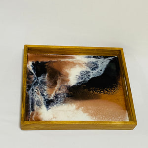 Medium tray - Black, White & Copper