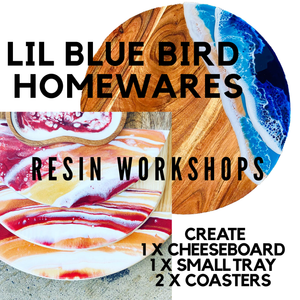 28th Nov Orange - homewares resin workshop