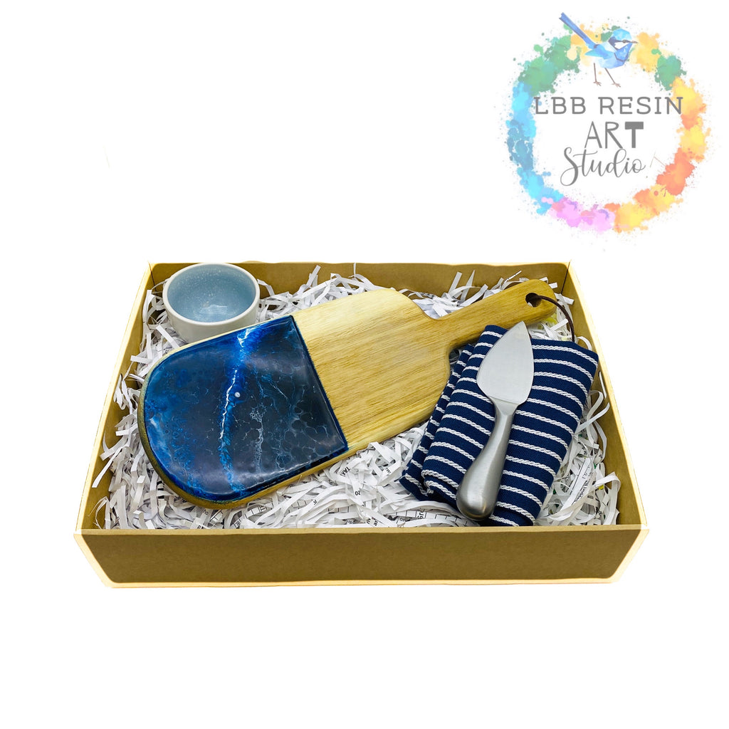 Lil Blue Bird Gift Box - midnight ocean