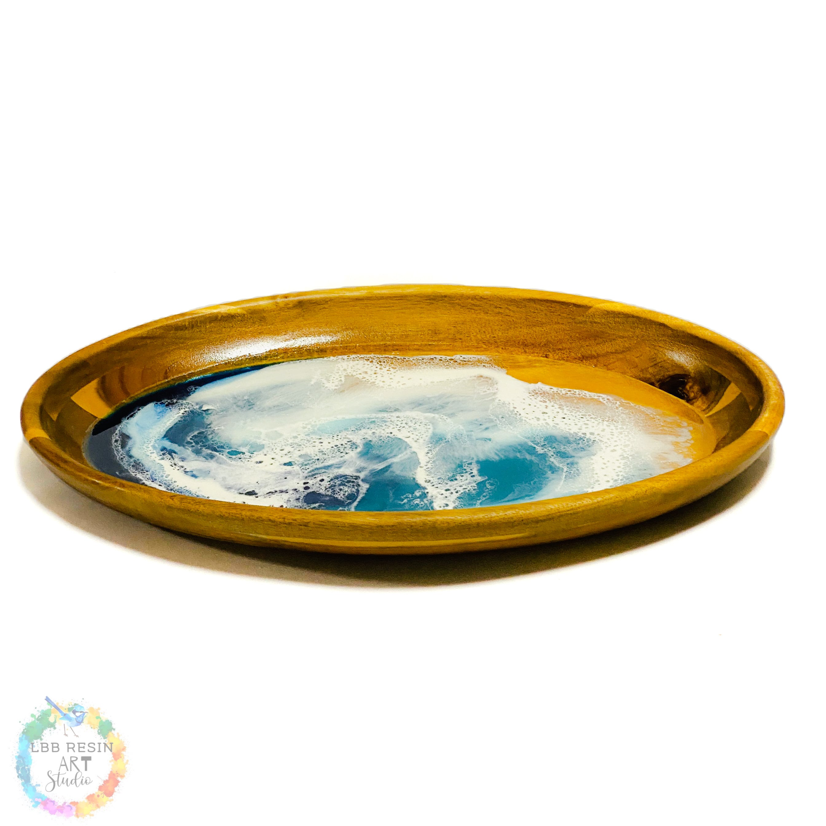 Large Oval Serving Dish - Ocean