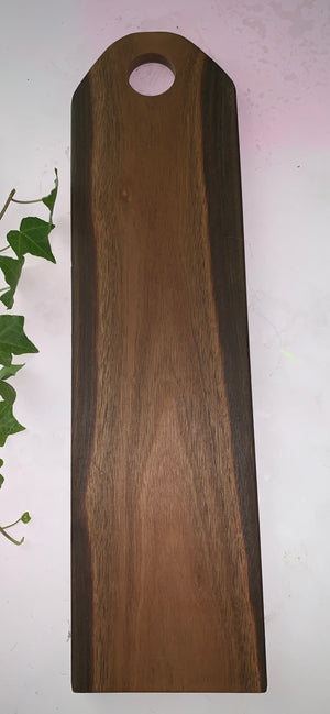 Natural Spotted gum serving platter- centre handle