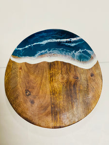 Personalised Round  - Ocean Blue