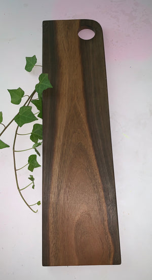 Natural Spotted gum serving platter- corner handle